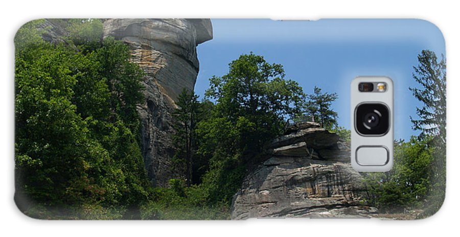 Chimney Rock Galaxy Case featuring the photograph Chimney Rock State Park Nc by Anna Lisa Yoder