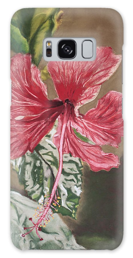 Flower Galaxy S8 Case featuring the painting China Rose by D Turner