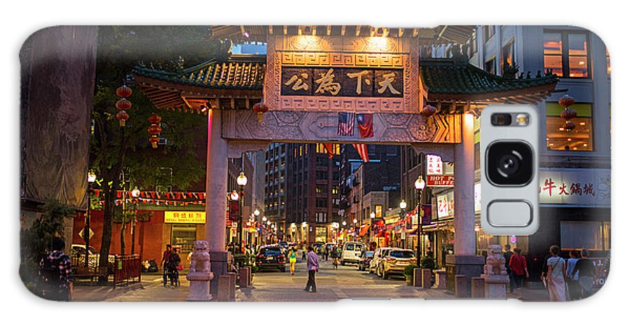 Boston Galaxy S8 Case featuring the photograph Chinatown Gate Boston Ma by Toby McGuire