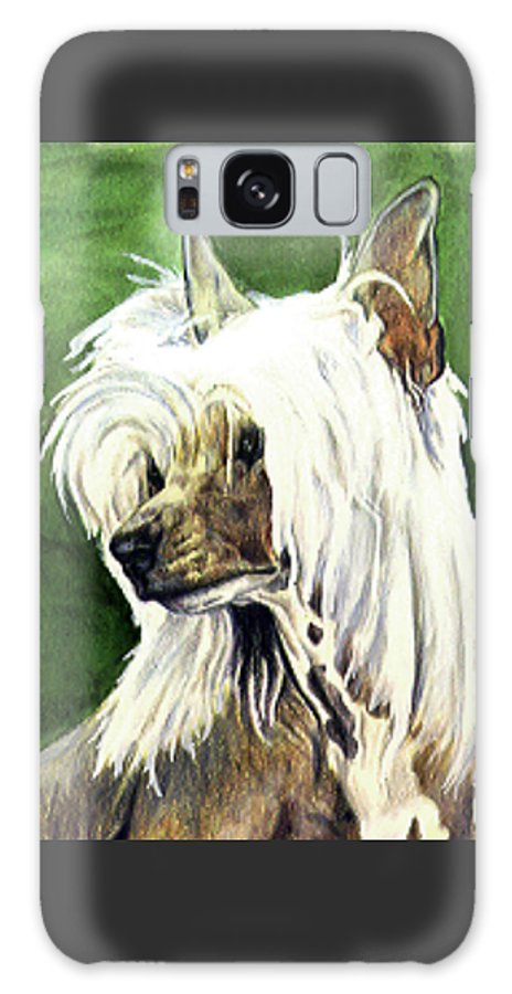Art Galaxy Case featuring the painting Chinese Crested by Kathleen Sepulveda