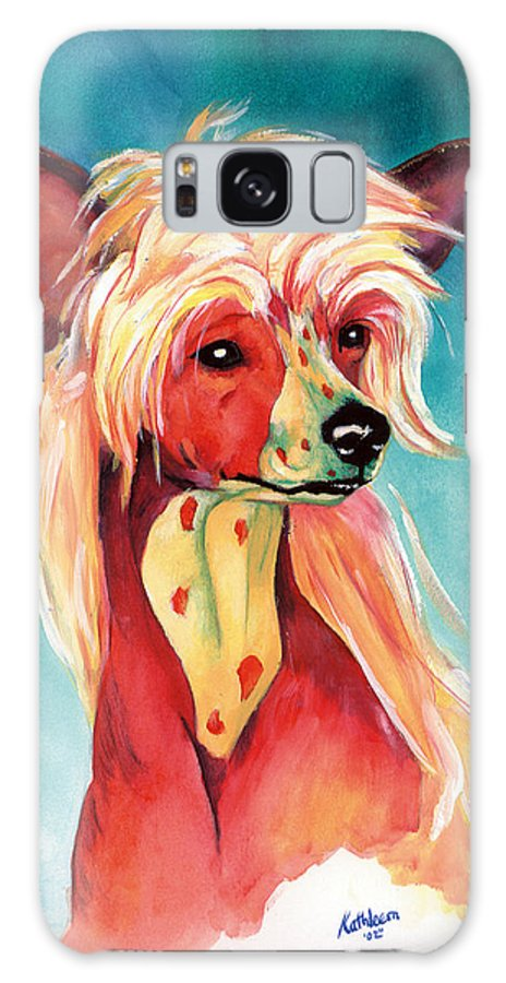 Art Galaxy Case featuring the painting Chinese Crested Sunset by Kathleen Sepulveda