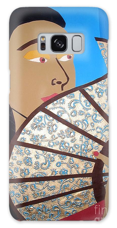 Chinese Galaxy S8 Case featuring the mixed media Chinese Fan by Debra Bretton Robinson