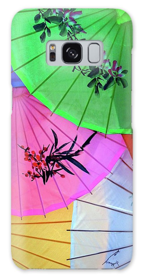 Parasols Galaxy S8 Case featuring the photograph Chinese Parasols by Nora Martinez