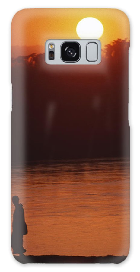 Sunset Galaxy S8 Case featuring the photograph Chitwan Sunset by Patrick Klauss