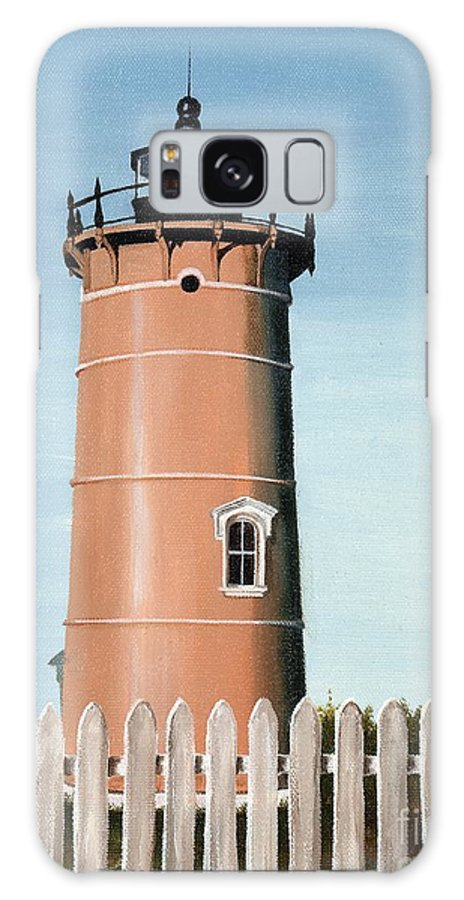 Lighthouse Galaxy S8 Case featuring the painting Chocolate Lighthouse by Mary Rogers
