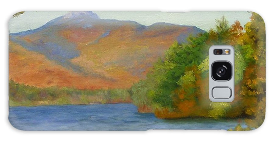 Mount Chocorua And Chocorua Lake Galaxy Case featuring the painting Chocorua by Sharon E Allen