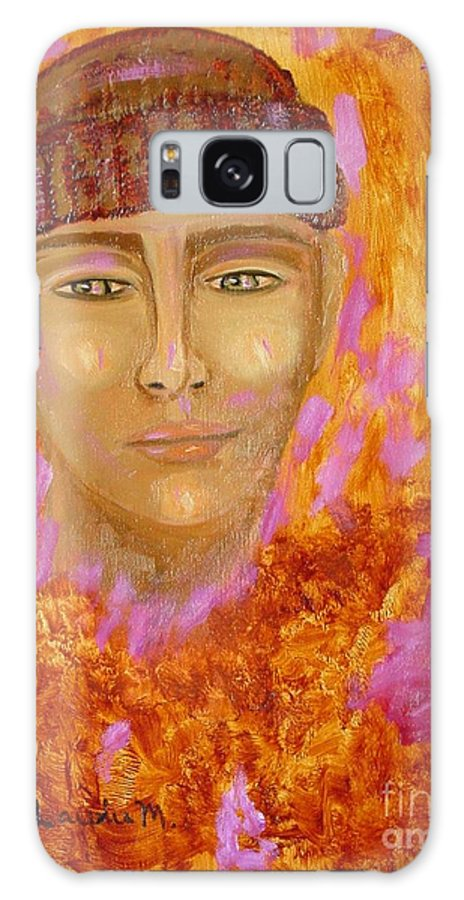Portrait Galaxy Case featuring the painting Choices by Laurie Morgan