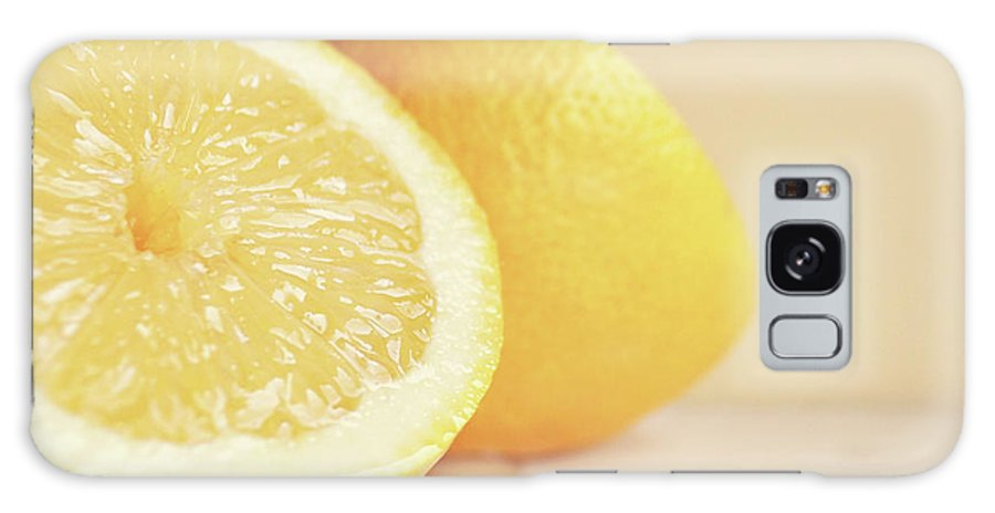 Fruit Galaxy Case featuring the photograph Chopped Lemon by Lyn Randle