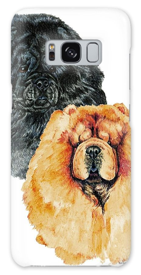 Chow Chow Galaxy Case featuring the painting Chow Chows by Kathleen Sepulveda