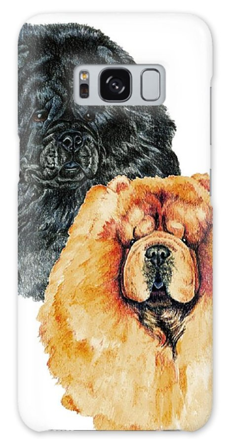 Chow Chow Galaxy S8 Case featuring the painting Chow Chows by Kathleen Sepulveda