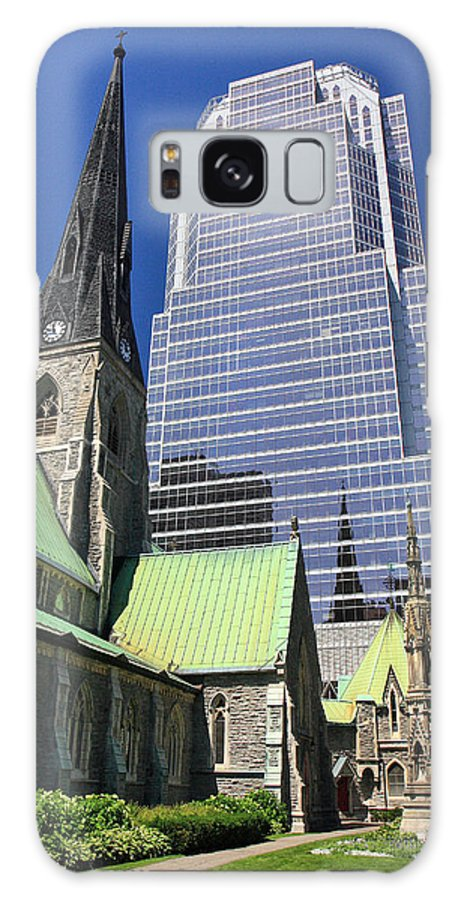 Montreal Galaxy S8 Case featuring the photograph Christ Church Cathedral Montreal by Pierre Leclerc Photography