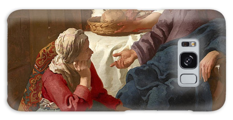 Johannes Vermeer Galaxy S8 Case featuring the painting Christ In The House Of Martha And Mary by MotionAge Designs