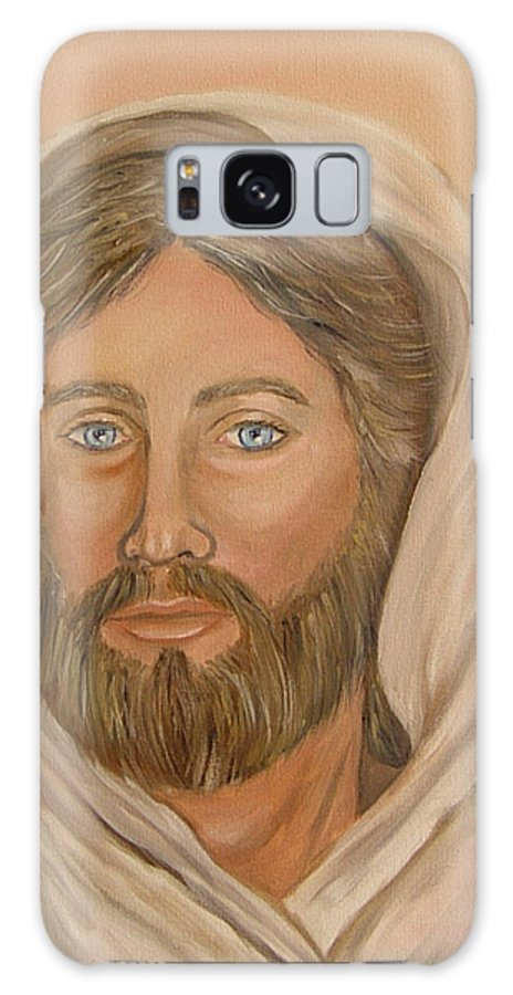 Christ Galaxy S8 Case featuring the painting Christ by Quwatha Valentine