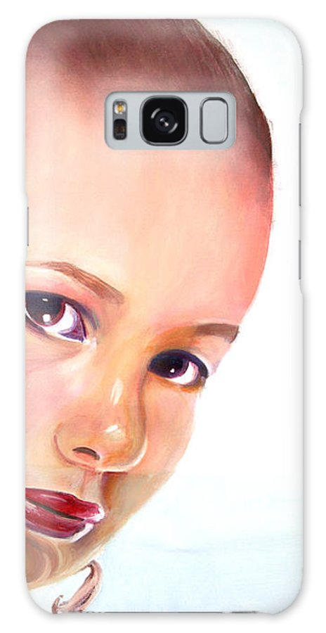 Portrait Galaxy S8 Case featuring the painting Christine by Fiona Jack