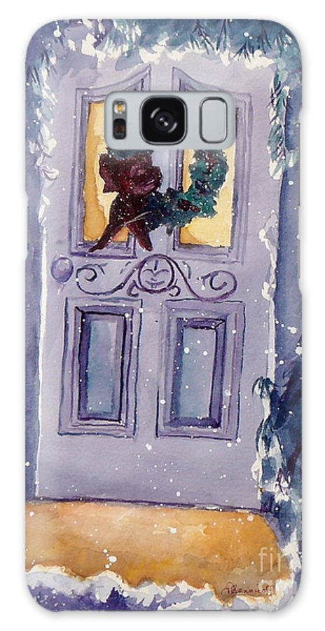 Holiday Scene Galaxy S8 Case featuring the painting Christmas Eve by Jan Bennicoff