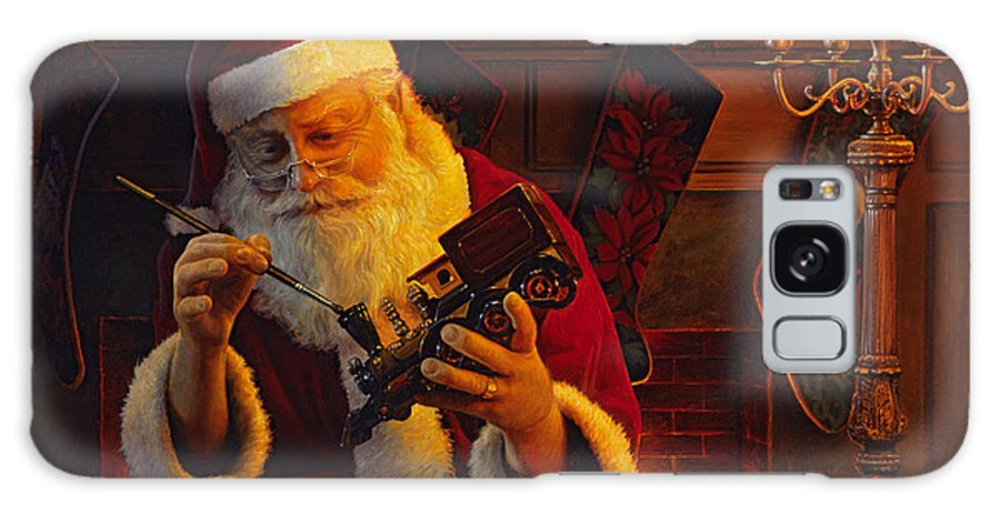 Christmas Galaxy S8 Case featuring the painting Christmas Eve Touch Up by Greg Olsen