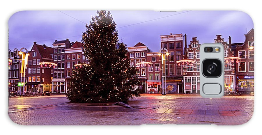 Amsterdam Galaxy S8 Case featuring the photograph Christmas In Amsterdam The Netherlands by Nisangha Ji