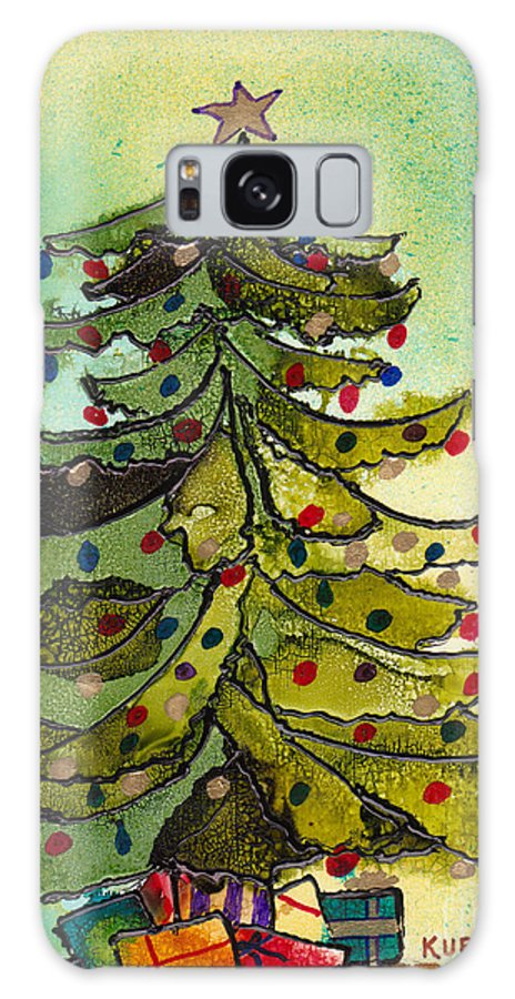 Christmas Galaxy S8 Case featuring the painting Christmas Morning 2008 by Susan Kubes