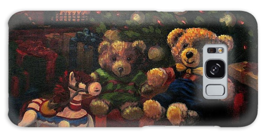Christmas Galaxy Case featuring the painting Christmas Past by Karen Ilari
