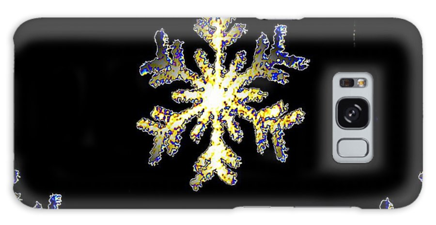 Snow Galaxy S8 Case featuring the photograph Christmas Snowflakes by Tim Allen