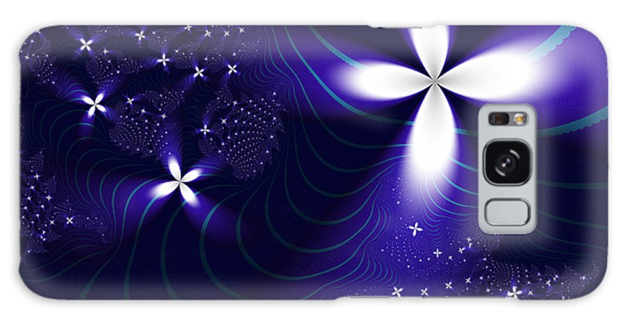 Fractal Galaxy S8 Case featuring the digital art Christmas Star by Vicky Brago-Mitchell