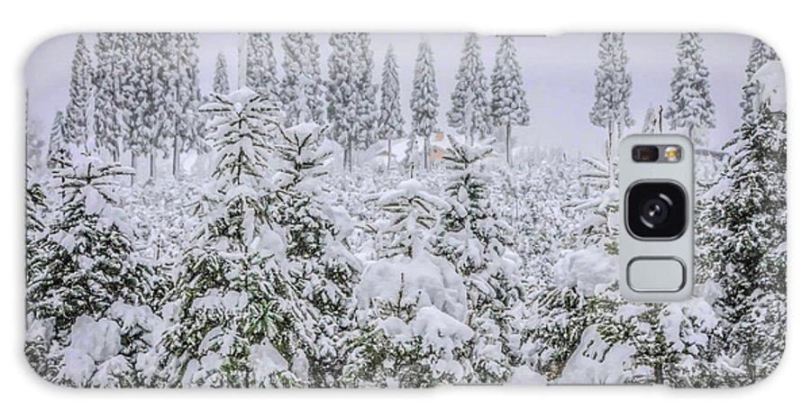Snow Galaxy S8 Case featuring the photograph Christmas Tree Farm by Steph Gabler