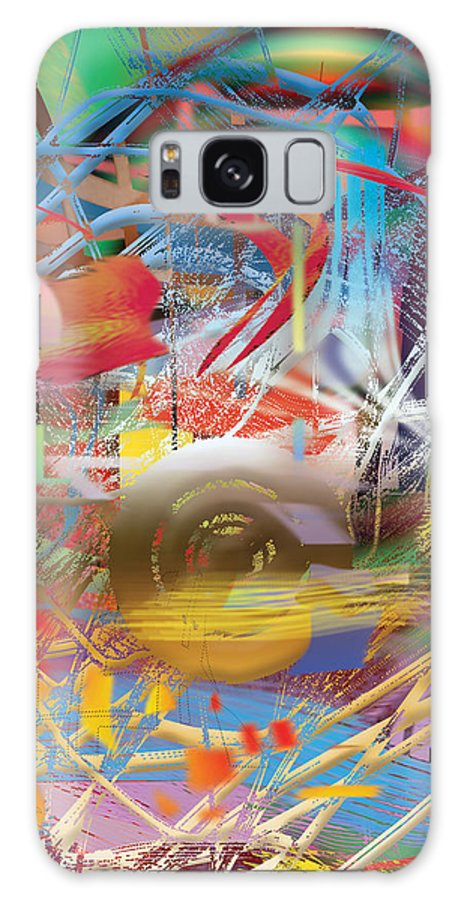 Colors Abstract Contemporary Mixed Media Modern Shapes Ideal Deco Contrasted Image Artist Paintings Various Hotel Living Room Design Interior Painting. Galaxy S8 Case featuring the digital art Chronicoss by Eric J Amsellem
