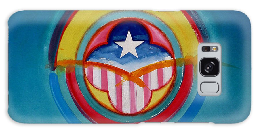 Button Galaxy S8 Case featuring the painting CIA by Charles Stuart