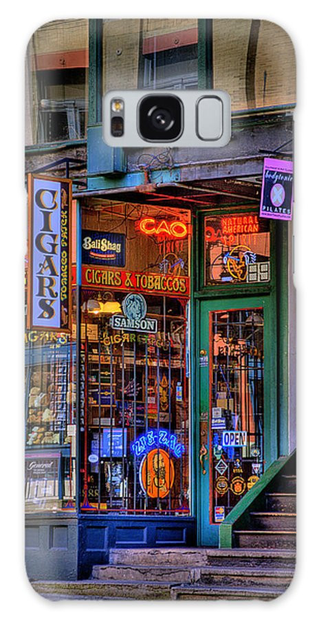 Pioneer Square Seattle Galaxy S8 Case featuring the photograph Cigar Store by David Patterson