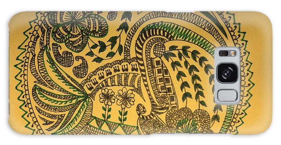 Galaxy S8 Case featuring the drawing Circular Artwork by Richa Ahuja