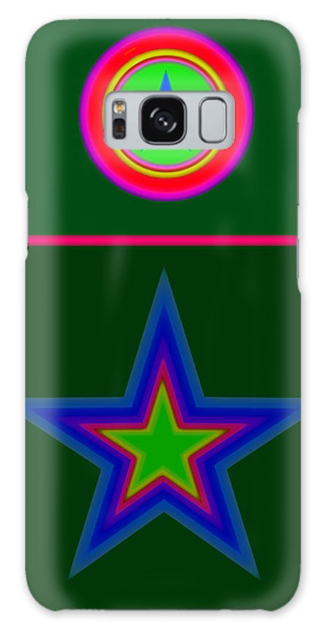 Circus Galaxy S8 Case featuring the digital art Circus Green by Charles Stuart