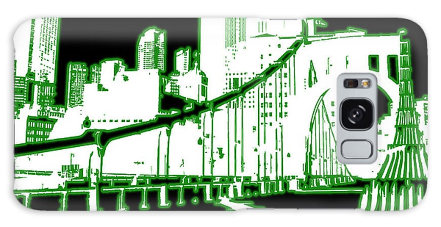 Digital Art Galaxy S8 Case featuring the digital art City 5 by Evelyn Patrick