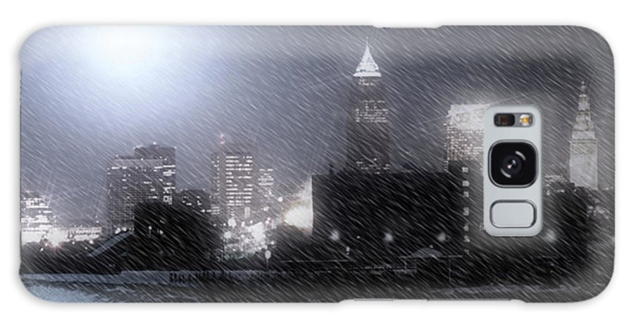 Cleveland Galaxy S8 Case featuring the photograph City Bathed In Winter by Kenneth Krolikowski