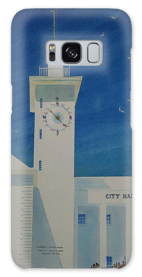 Bermuda Galaxy Case featuring the painting City Hall And Arts Building Bermuda by Tom Harris