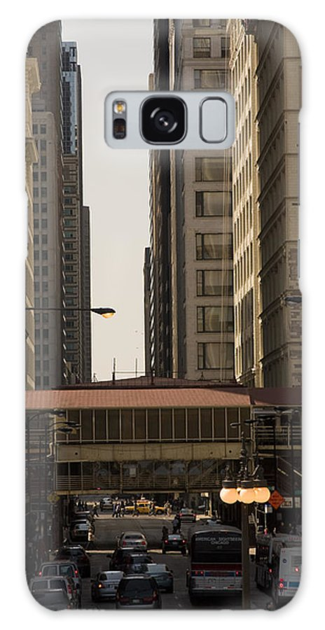 Chicago Windy City Street Trafic Bus People Building Skyscraper Metro Urban Galaxy S8 Case featuring the photograph City Life by Andrei Shliakhau