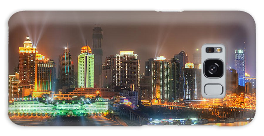 City Galaxy S8 Case featuring the photograph City Lights Of Chongqing Skyline by Fototrav Print