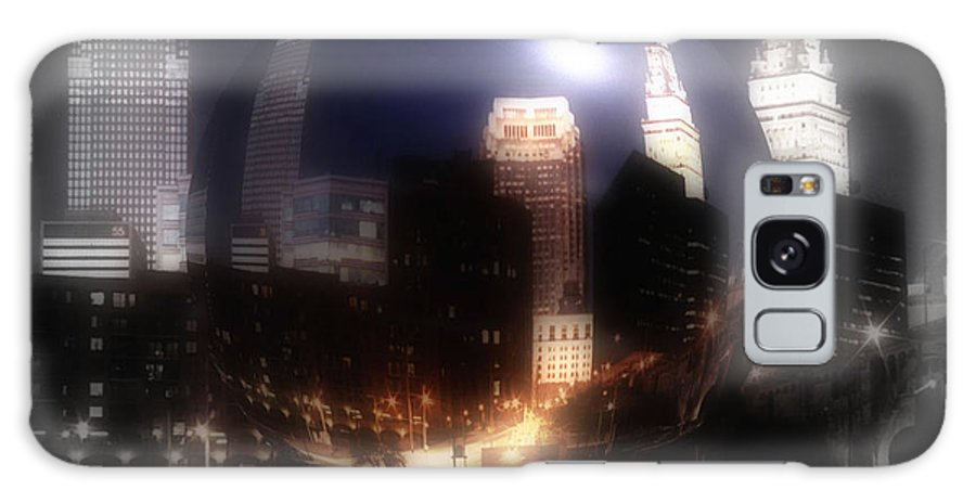 Cleveland Galaxy Case featuring the photograph City On The North Coast by Kenneth Krolikowski