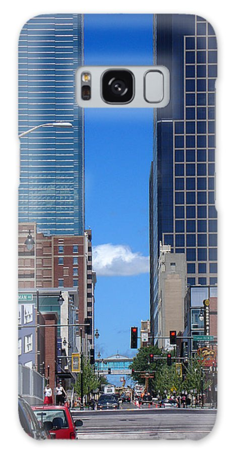 Kansas City Galaxy Case featuring the photograph City Street Canyon by Steve Karol