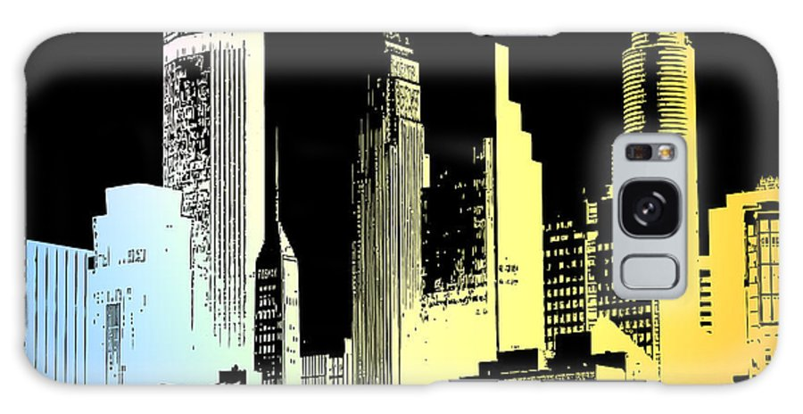Cityscape Galaxy S8 Case featuring the digital art Cityscape 4 by Evelyn Patrick