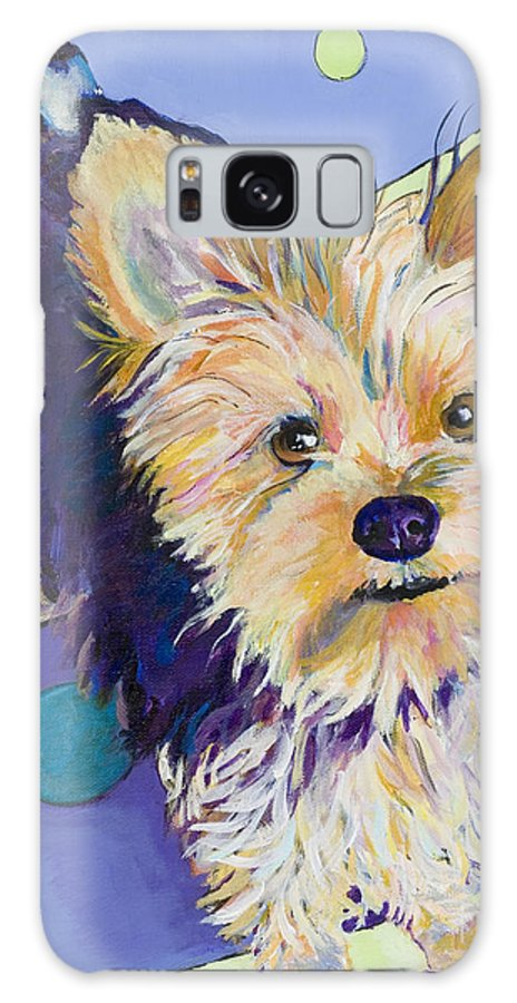 Pet Portraits Galaxy S8 Case featuring the painting Claire by Pat Saunders-White