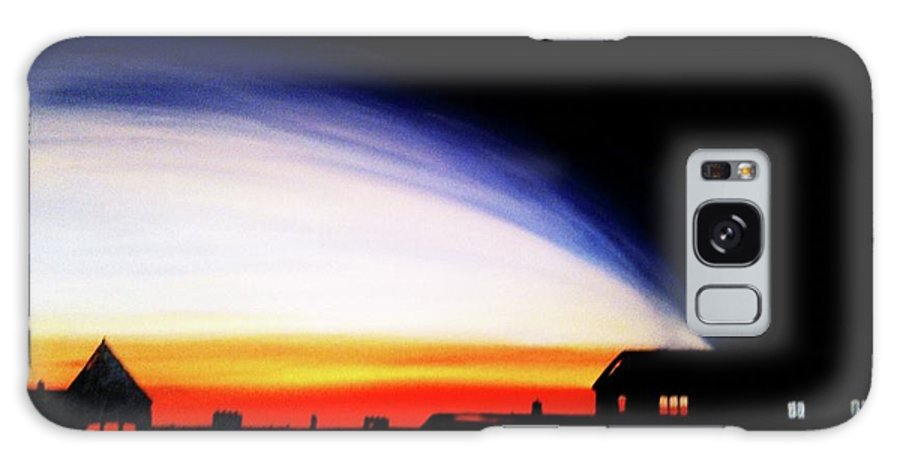Glasgow Scotland Galaxy S8 Case featuring the painting Clarence Drive by Garry Conway