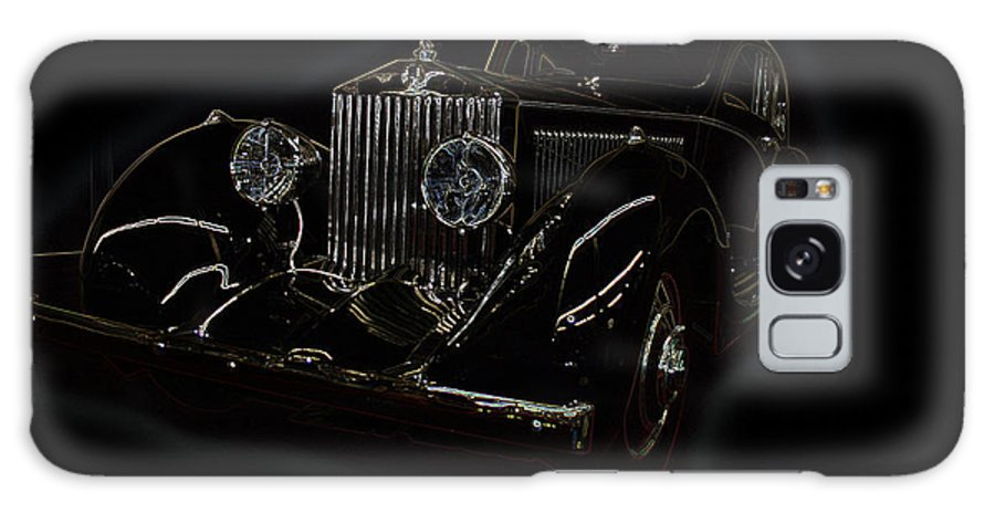 Classic Car Antique Show Room Vehicle Glowing Edge Black Light Chevy Dodge Ford Ride Galaxy S8 Case featuring the photograph Classic 3 by Andrea Lawrence