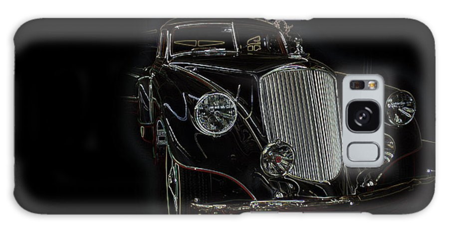 Classic Car Antique Show Room Vehicle Glowing Edge Black Light Chevy Dodge Ford Ride Galaxy S8 Case featuring the photograph Classic 4 by Andrea Lawrence