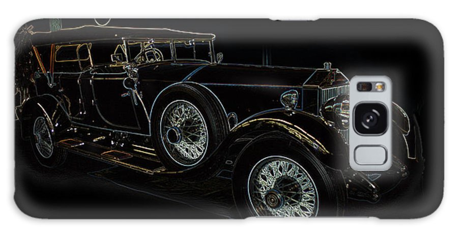 Classic Car Antique Show Room Vehicle Glowing Edge Black Light Chevy Dodge Ford Ride Galaxy S8 Case featuring the photograph Classic 5 by Andrea Lawrence