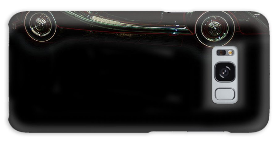Classic Car Antique Show Room Vehicle Glowing Edge Black Light Chevy Dodge Ford Ride Galaxy S8 Case featuring the photograph Classic 6 by Andrea Lawrence