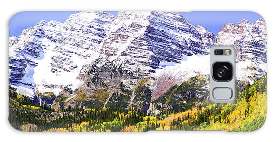Americana Galaxy Case featuring the photograph Classic Maroon Bells by Marilyn Hunt
