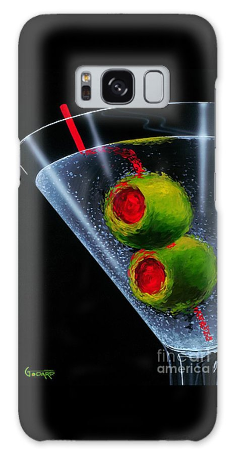 Martini Galaxy S8 Case featuring the painting Classic Martini by Michael Godard