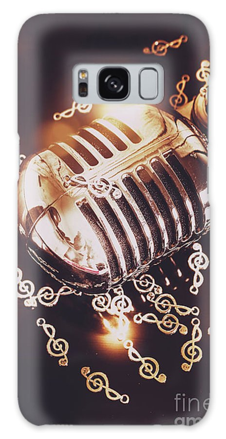 Microphone Galaxy Case featuring the photograph Classics At The Audio Hall by Jorgo Photography - Wall Art Gallery