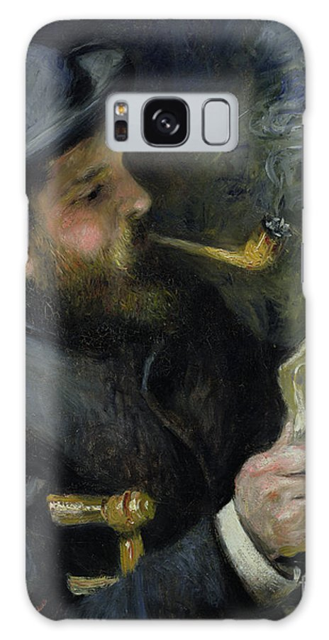 Claude Galaxy S8 Case featuring the painting Claude Monet Reading A Newspaper by Pierre Auguste Renoir