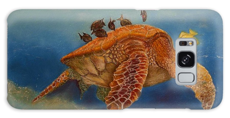 Turtle Galaxy Case featuring the painting Cleaning Station by Ceci Watson